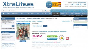 xtralife.es Assassin's Creed Chronicles PS Vita