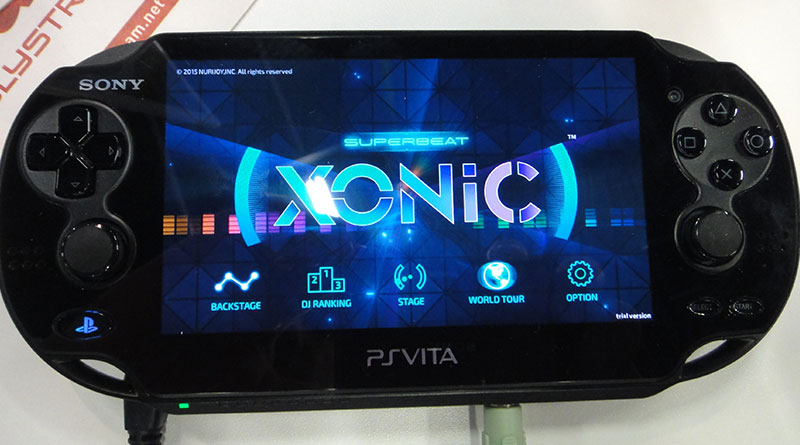 Superbeat: XONiC PS Vita Gamescom 2015