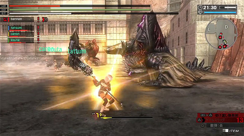 God Eater Resurrection PS Vita PS4 Predator Style Gameplay