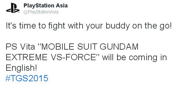 Mobile Suit Gundam: Extreme VS Force PS Vita English
