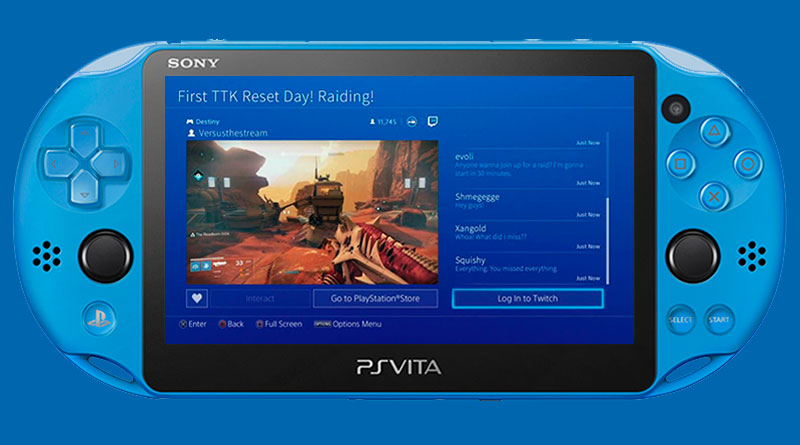 Twitch Viewing App PS Vita 2016 PS3 PS4