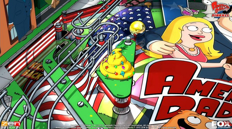 American Dad! Pinball Table PS Vita PS3 PS4