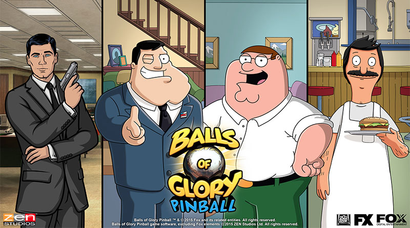 Balls of Glory Pinball Pack Family Guy, American Dad! Bob's Burger Archer Pinball PS Vita PS3 PS4 Zen Pinball 2