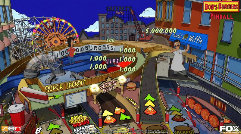 Bob's Burgers Pinball Table PS Vita PS3 PS4