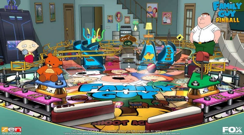 Family Guy Pinball Table PS Vita PS3 PS4