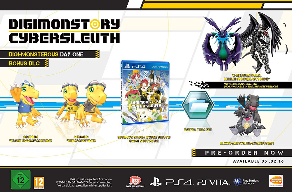 Digimon Story: Cyber Sleuth PS Vita PS4 Bonus