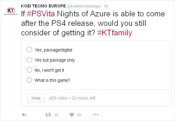 Nights of Azure PS Vita