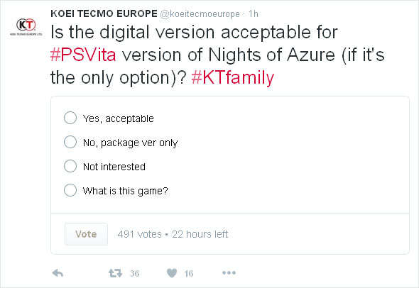 Nights of Azure PS Vita