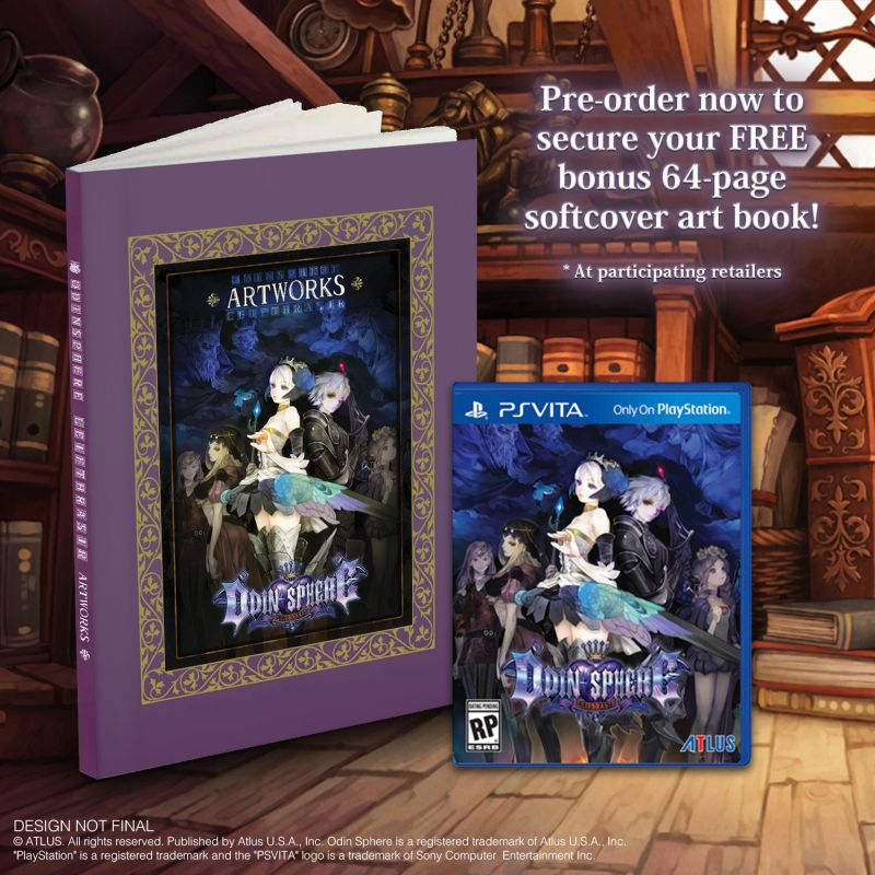Odin Sphere Leifthrasir PS Vita Softcover Artbook Edition