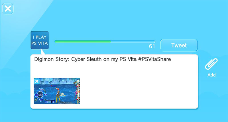 Share The PS Vita Screenshots On Twitter