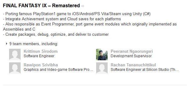Final Fantasy IX Remastered PS Vita