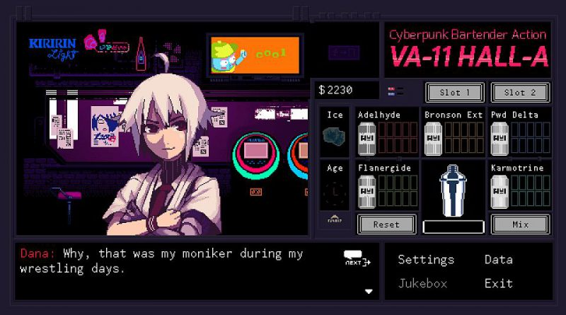 VA-11 Hall-A Cyberpunk Bartender Action PS Vita