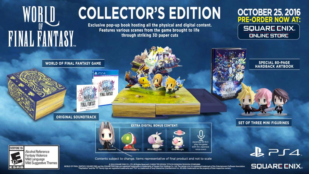 World of Final Fantasy PS4 Collector's Edition