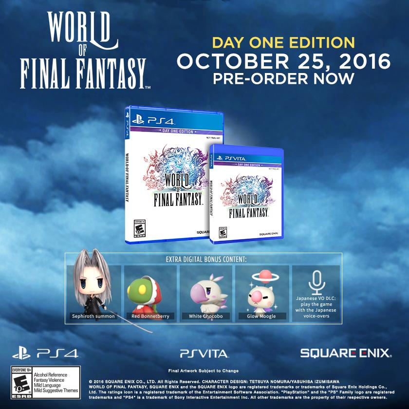 World of Final Fantasy PS Vita PS4 Day One Edition