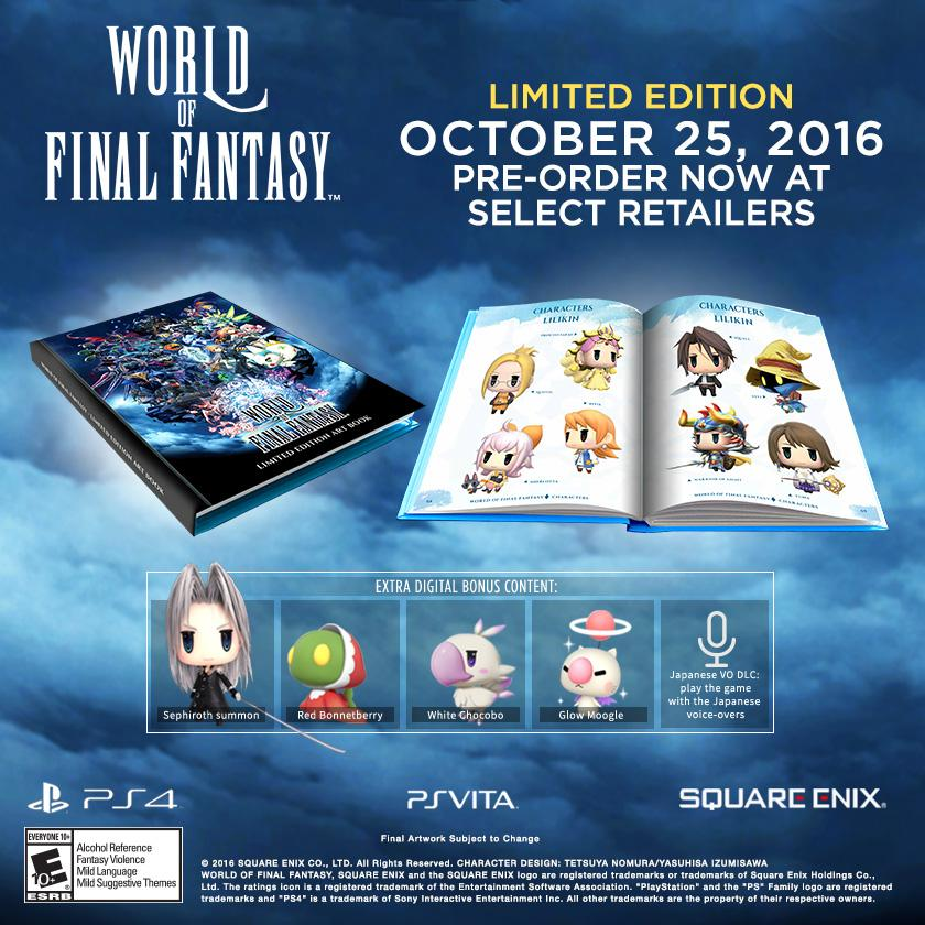 World of Final Fantasy PS Vita PS4 Limited Edition