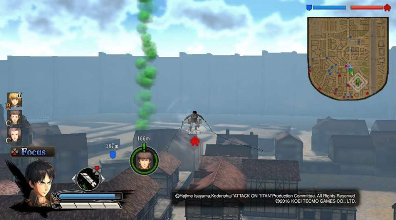 A.O.T.: Wings of Freedom PS Vita PS3 PS4