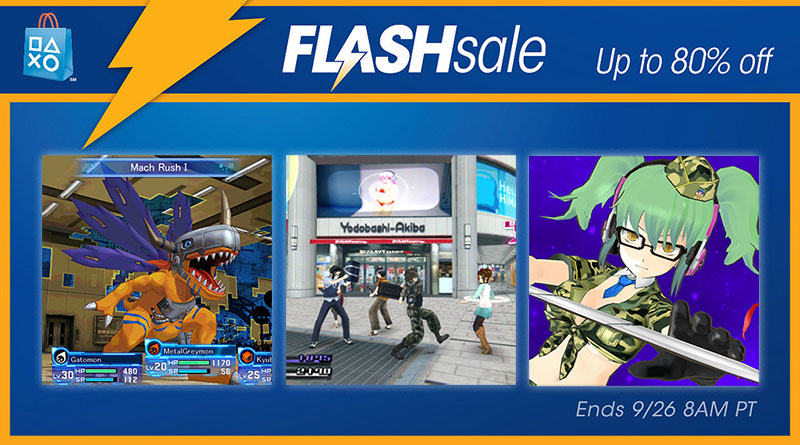 Animation Flash Sale PS Vita PSP