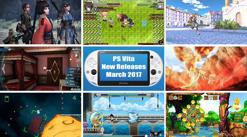 PS Vita New Releases March 2017