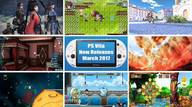 PS Vita New Releases March 2017