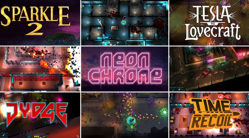 Neon Chrome Sparkle 2 Time Rocoil Resla vs Lovecraft JYDGE Nintendo Switch