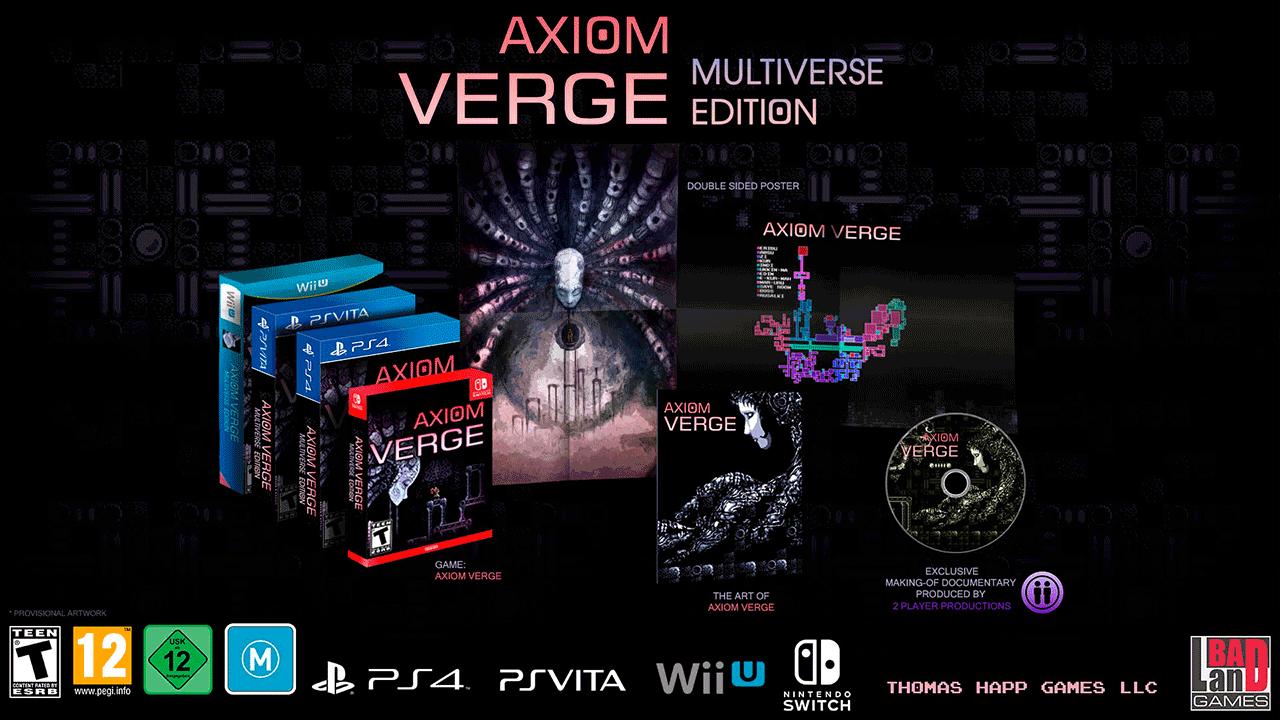 Axiom Verge Multiverse Edition PS Vita PS4 Nintendo Switch Wii U