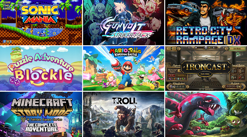 Nintendo Switch New Releases August 2017