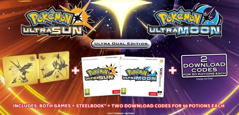 Pokemon Ultra Sun Moon Ultra Dual Edition 3DS