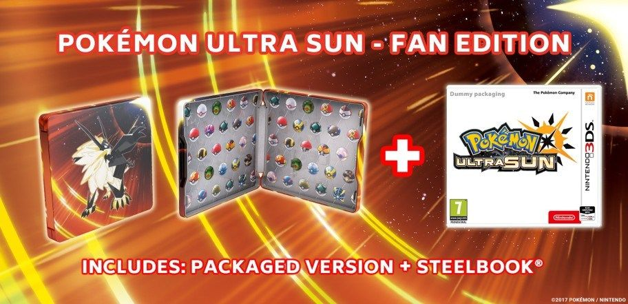 Pokemon Ultra Sun Fan Edition 3DS