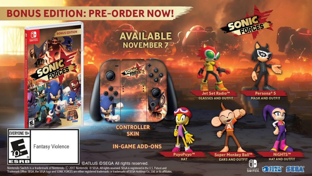 Sonic Forces Nintendo Switch Bonus Edition