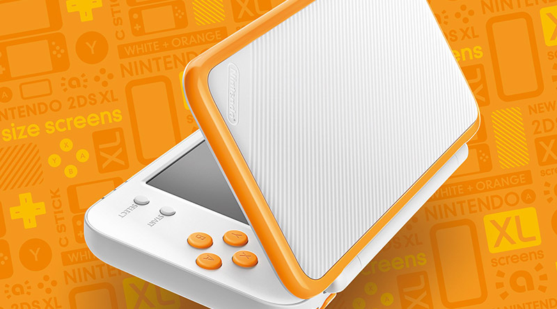 White + Orange New Nintendo 2DS XL