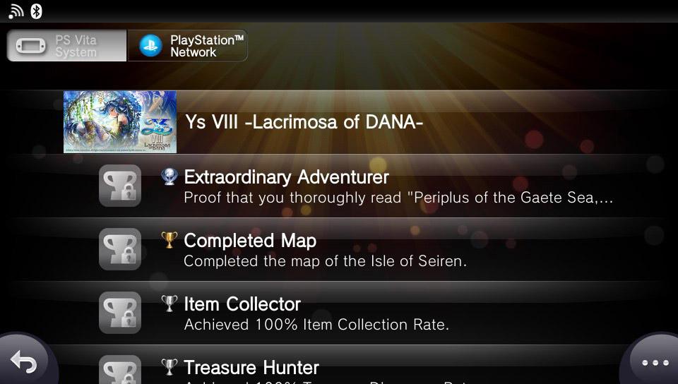 PS Vita Trophies