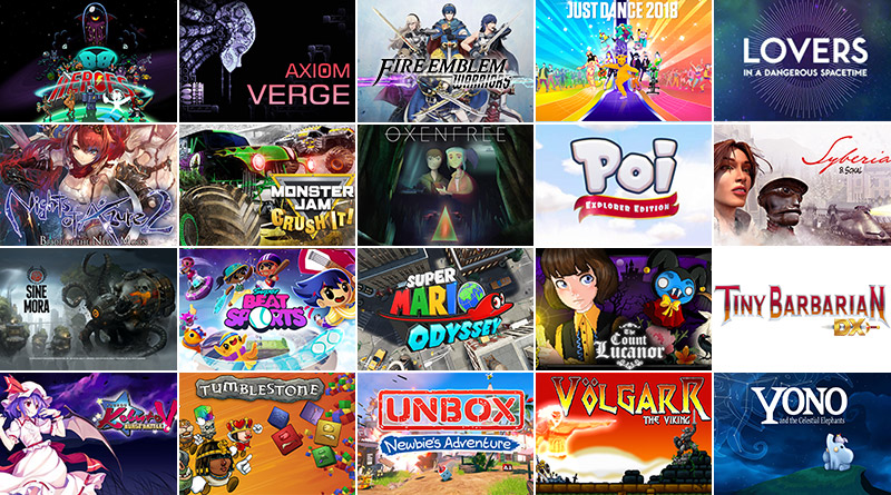 Nintendo Switch New Releases October 2017