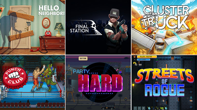 Hello Neighbor, The Final Station, Clustertruck, Punch Club, Party Hard, & Streets of Rogue Nintendo Switch