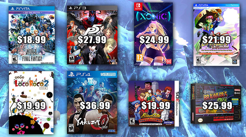 Play-Asia has reduced the prices on 8 gaming products including World of Final Fantasy for PS Vita and Persona 5 for PS3.