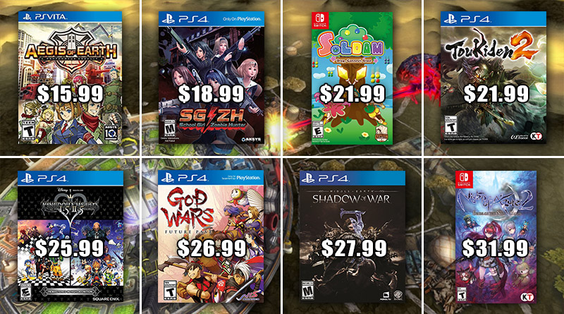 Play-Asia Weekly Special: Aegis of Earth Toukiden 2 God Wars: Future Past PS Vita PS4