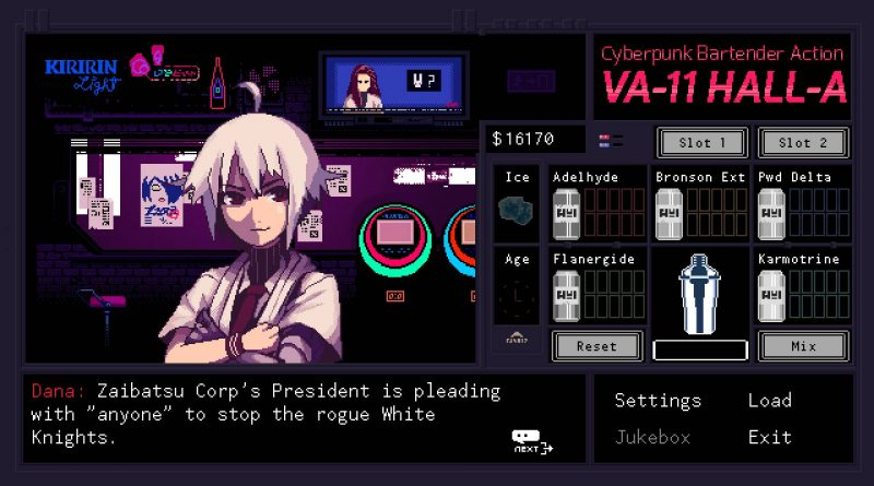 VA-11 Hall-A Nintendo Switch PS4