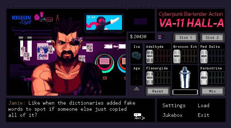 VA-11 Hall-A Nintendo Switch PS4