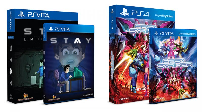 STAY & Fast Striker Limited Editions PS Vita PS4