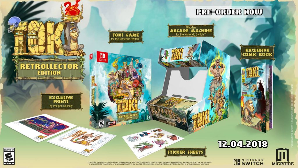 Toki Nintendo Switch Retro Collector's Edition