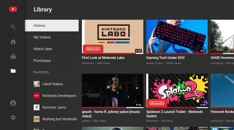 YouTube App Nintendo Switch