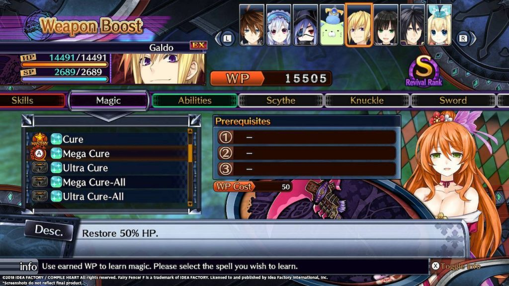 Fairy Fencer F: Advent Dark Force Weapon Boost