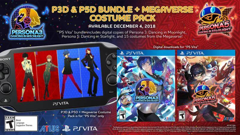 P3D & P5D Bundle + Megaverse Costume Pack for PS Vita