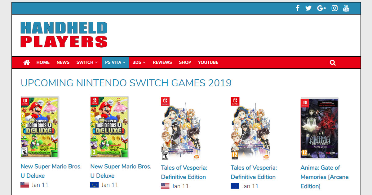 New switch games 2019