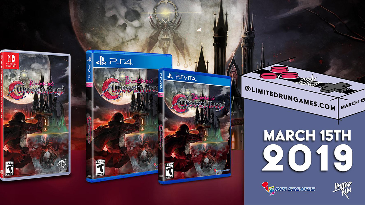 Bloodstained: Curse of the Moon Physical Versions Announced For PS Vita, PS4 & Switch | Handheld Players