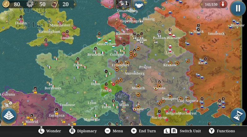 European Conqueror X Nintendo Switch