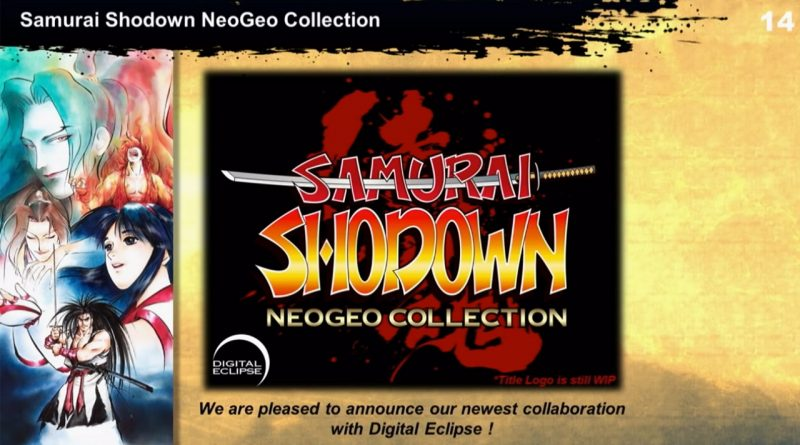 Samurai Shodown NeoGeo Collection Nintendo Switch