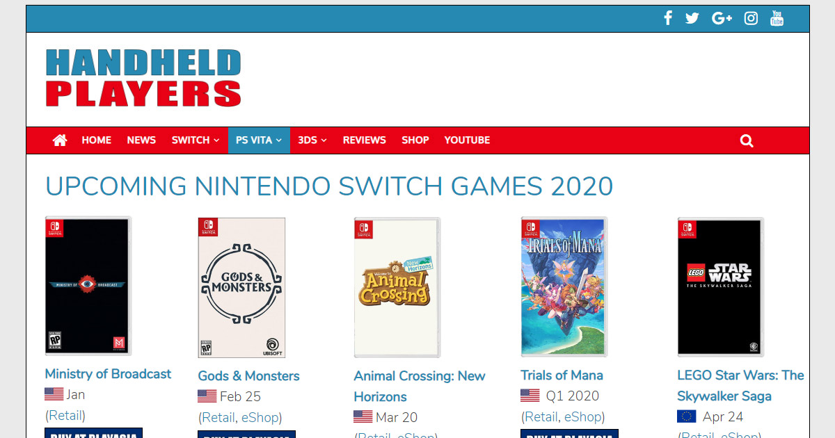 New Nintendo Switch Games 2020.Upcoming Nintendo Switch Games 2020 Handheld Players