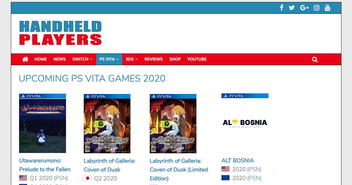 Upcoming 3ds Games 2020.Upcoming Ps Vita Games 2020 Handheld Players