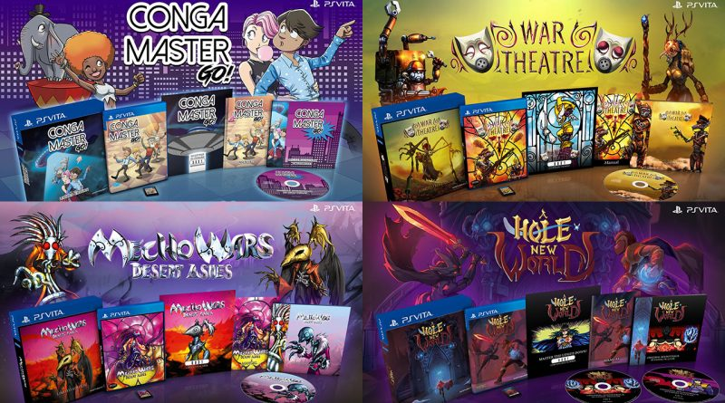 Conga Master Go!, War Theatre, Mecho Wars: Desert Ashes & A Hole New World Limited Editions PS Vita