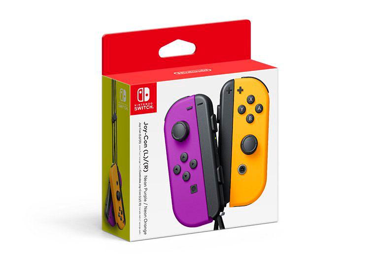 Joy-Con Colors Purple/Neon Orange
